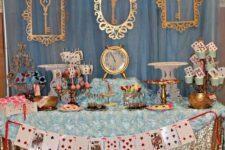 06 Alice In Wonderland party dessert table