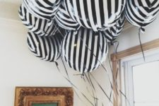 06 black and white stripe balloons for party decor