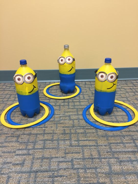 homemade minions made for ring toss