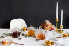 08 modern laconic tea party table setting with candles