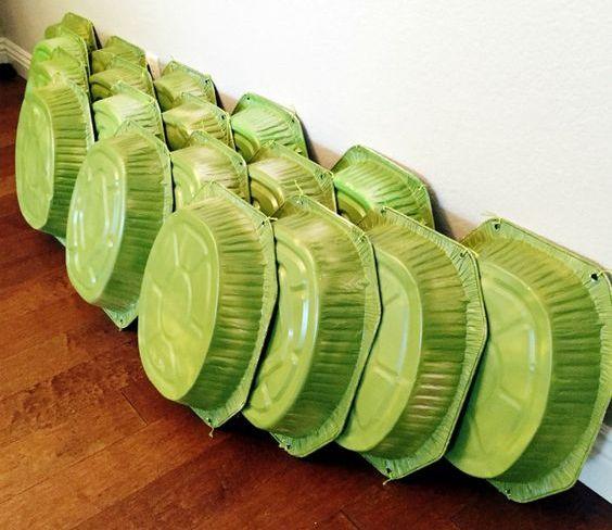 DIY mutant ninja turtle shells