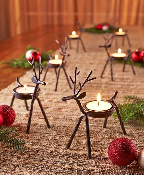 reindeer tealight holders