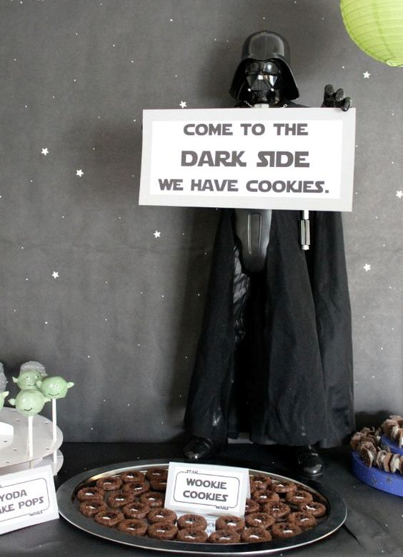 Darth Vader inviting to the dark side