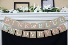 10 simple bunting for a gender reveal party