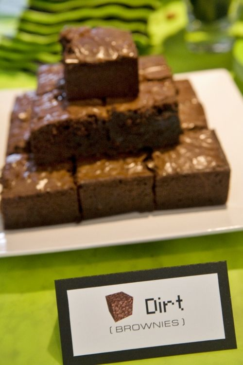brownies as dirt from Minecraft