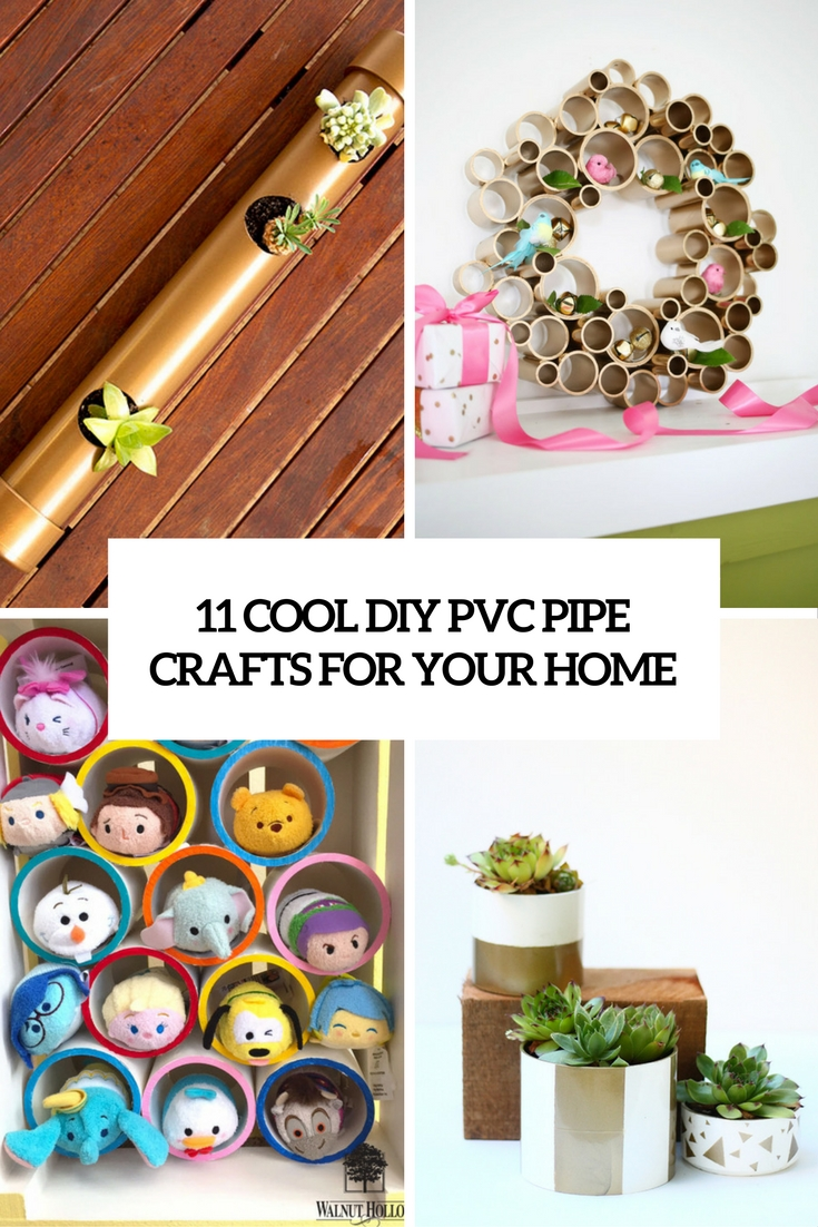 cool diy pvc pipe crafts for your home cover