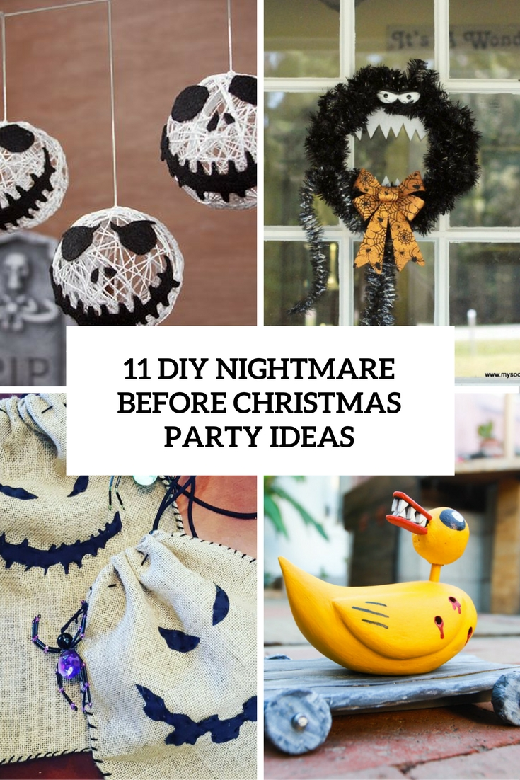 diy nightmare before christmas party ideas cover - Night Before Christmas Decorations