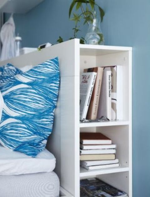 store books in your headboard compartments