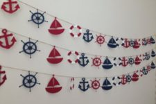 12 sailboat, anchor, lfe saver garlands are ideal for any seaside themed party