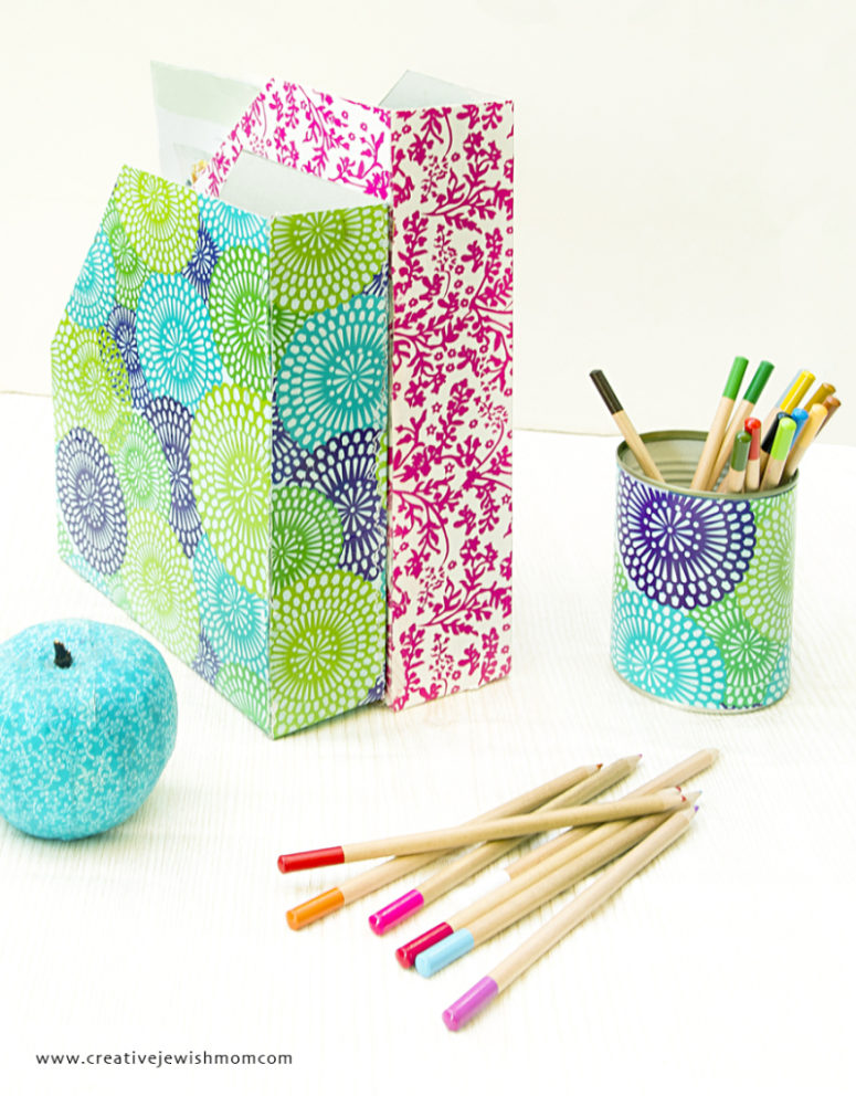 DIY cereal box magazine holders (via www.creativejewishmom.com)