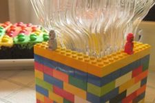 12 use real lego pieces for makign decor or ask your kids to make such a spoon holder
