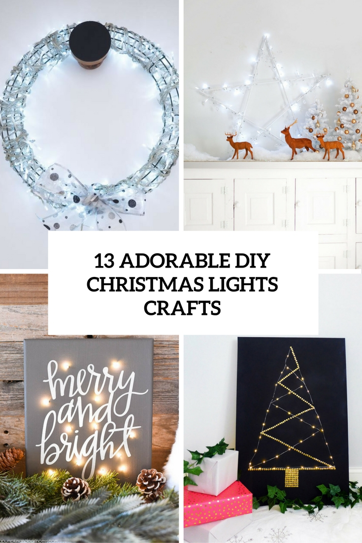 adorable diy christmas light crafts cover