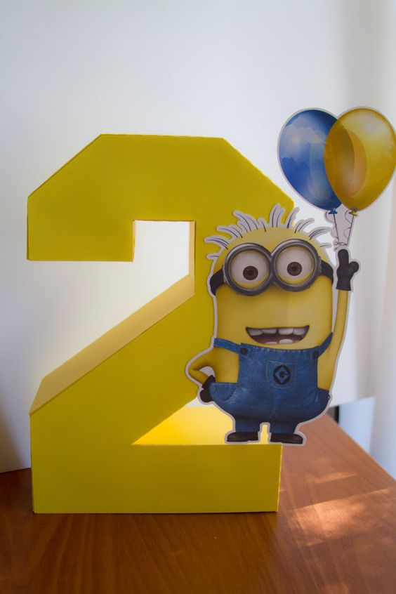 Minion Centerpiece For The 2nd Birthday