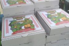 13 serve pizzas because the ninja turtles loved them