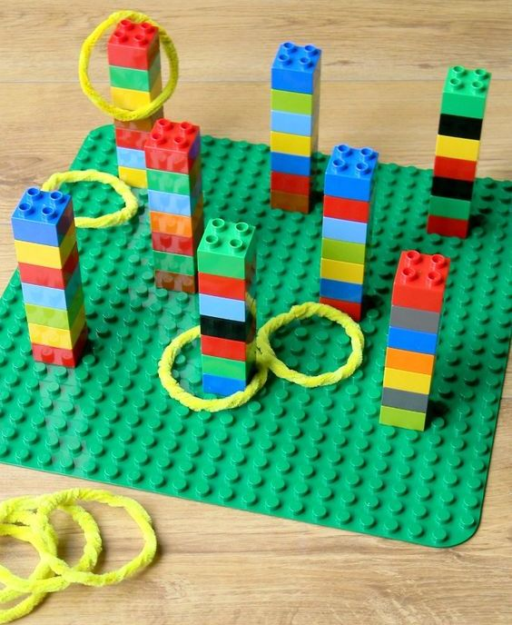 LEGO Duplo ring toss game