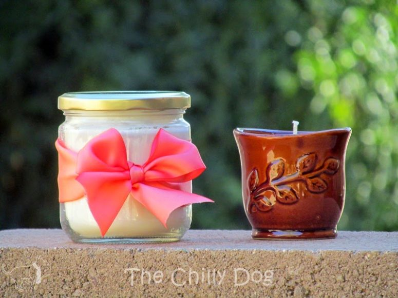 DIY scented soy candles in jars (via www.thechillydog.com)
