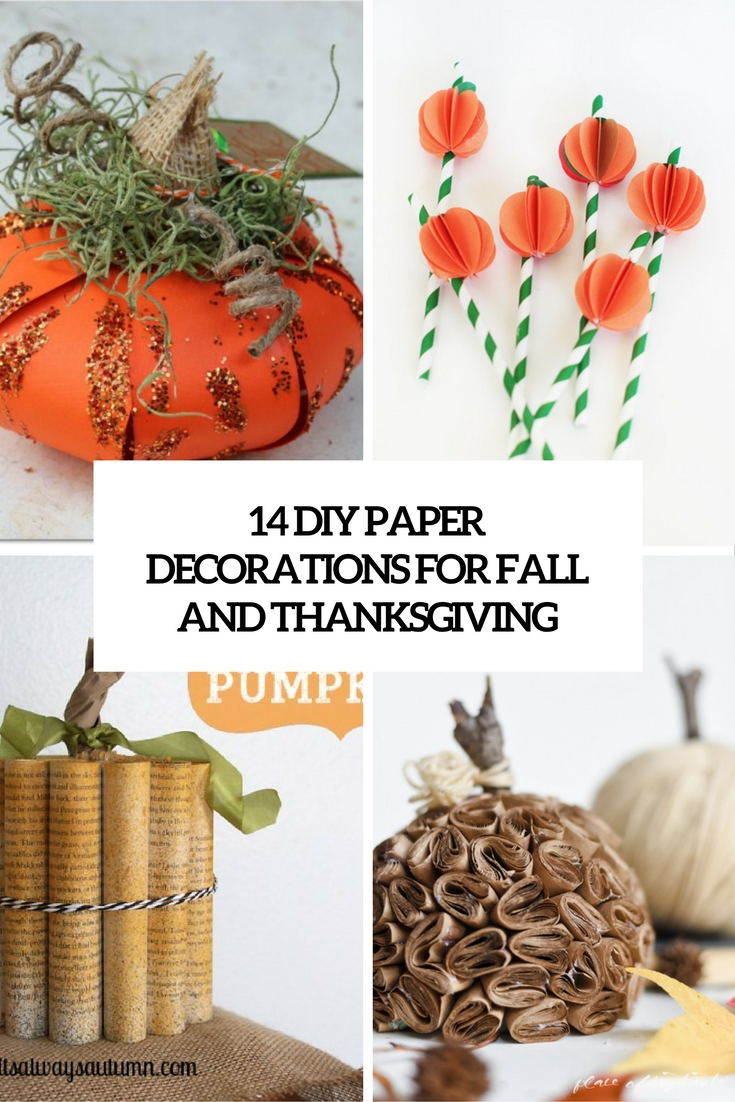 diy paper decorations for fall and thanksgiving cover