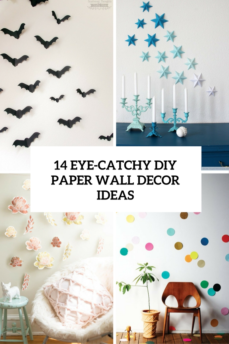 14 eye catchy diy paper wall d cor ideas shelterness for Diy wall mural ideas