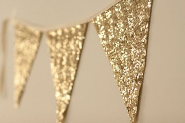 gold sequin banner for party decor