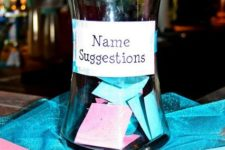 15 ask your guests to suggest a name for the baby