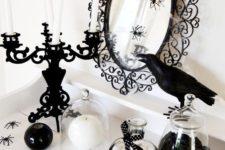 15 monochrome Halloween decor for stylish and elegant parties
