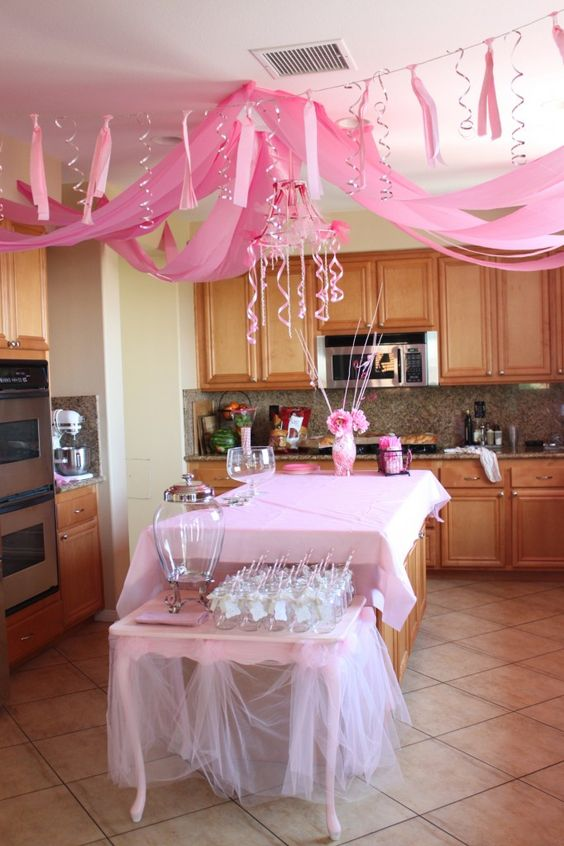 princess pink party decor