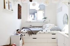 16 incorporate several storage layers under your bed to accomodate everything