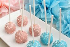 18 cake pops in two colors for your dessert table