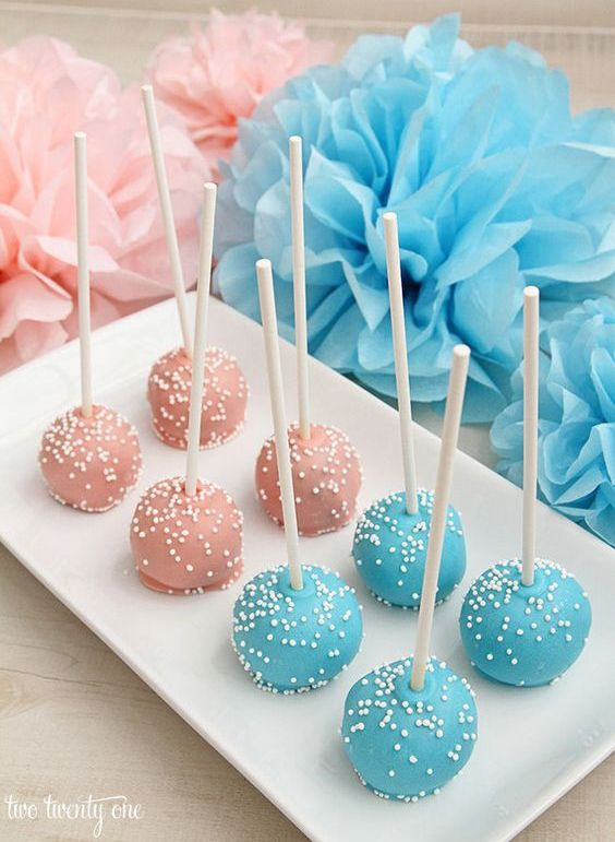 cake pops in two colors for your dessert table