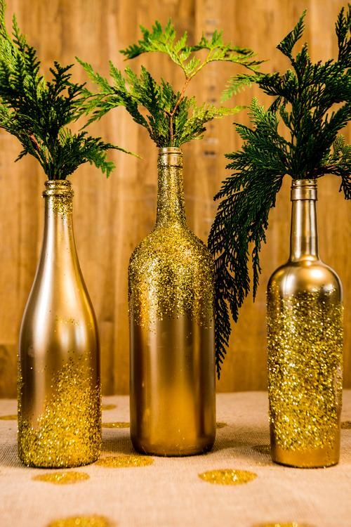 28 wine bottle centerpieces for every occasion shelterness. Black Bedroom Furniture Sets. Home Design Ideas