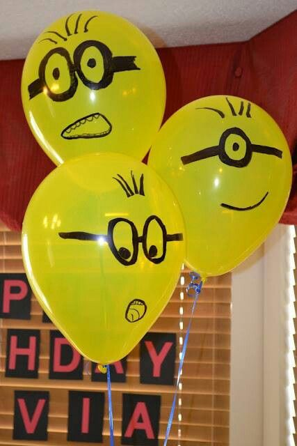 take a marker and decorate balloons yourself