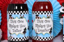 19 Alice in Wonderland bottle labels can be easily printed by everyone