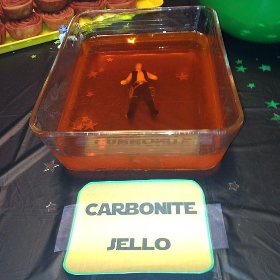 Carbonite Jello with Han Solo inside