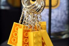 21 Lego key rings as party favors