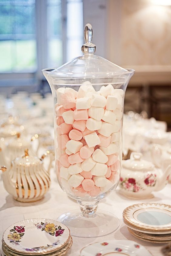 marshmallows are a perfect sweet treat for a vintage-inspired tea party