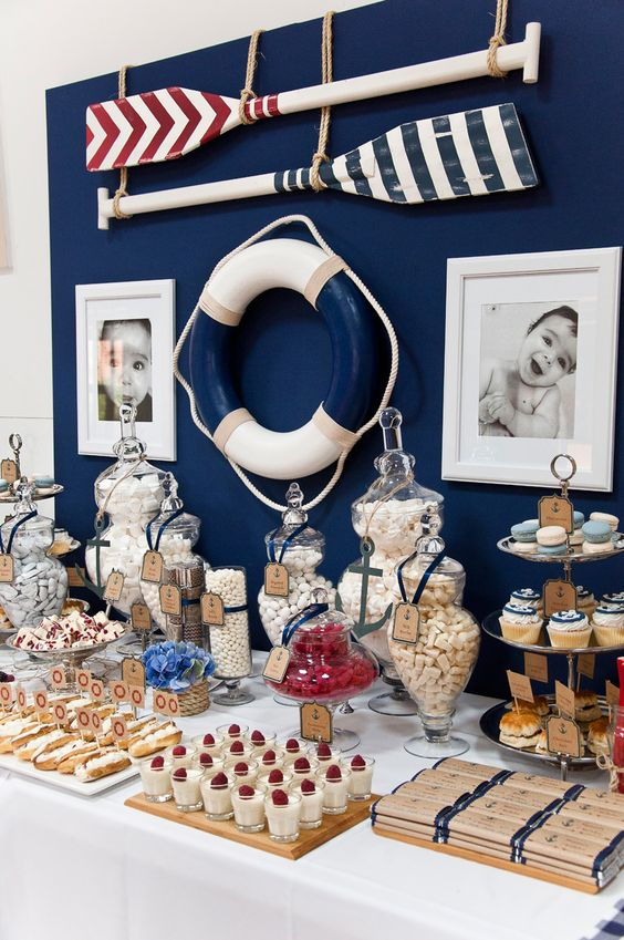 26 awesome nautical party ideas to try shelterness for Baby shower nautical decoration