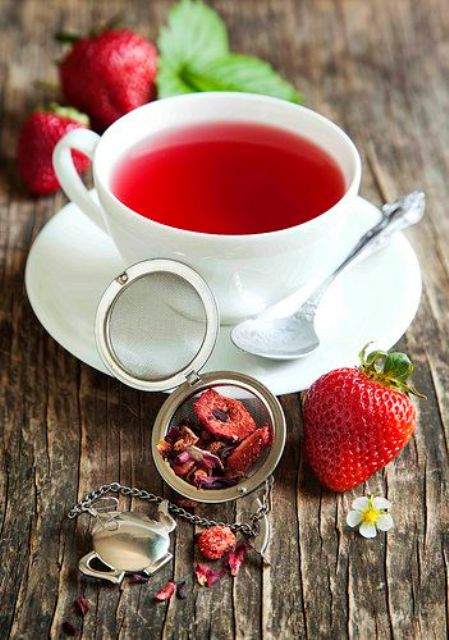 strawberry balsamico herbal tea