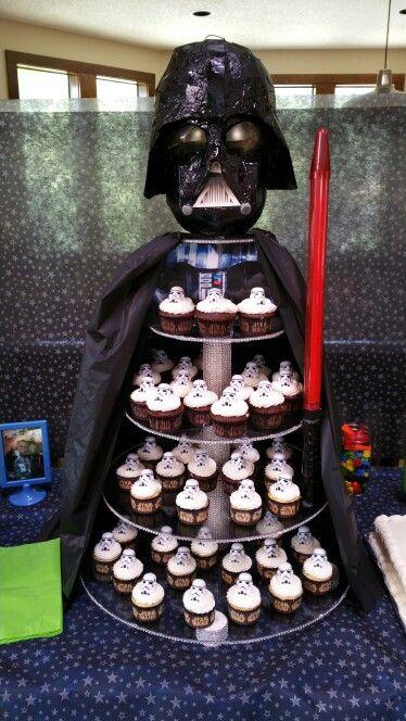 Darth Vader cupcake stand