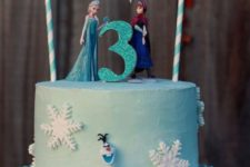 22 Frozen kid's birthday cake