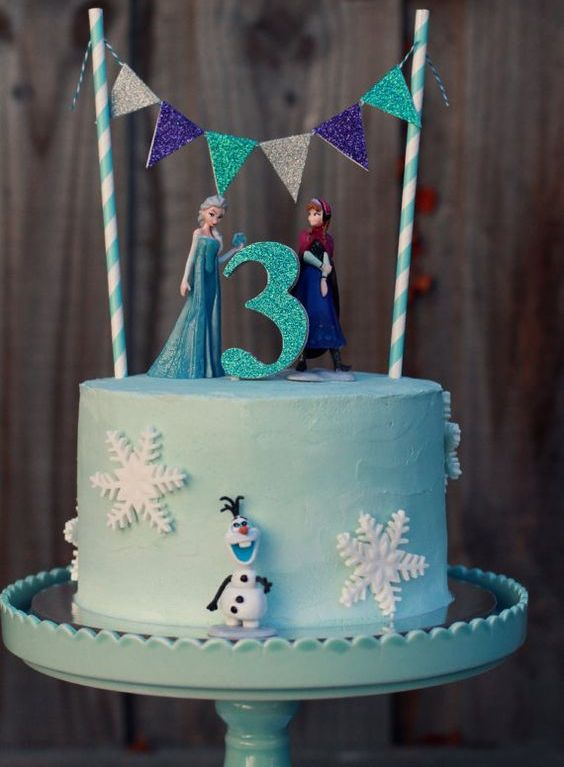 Frozen kid's birthday cake