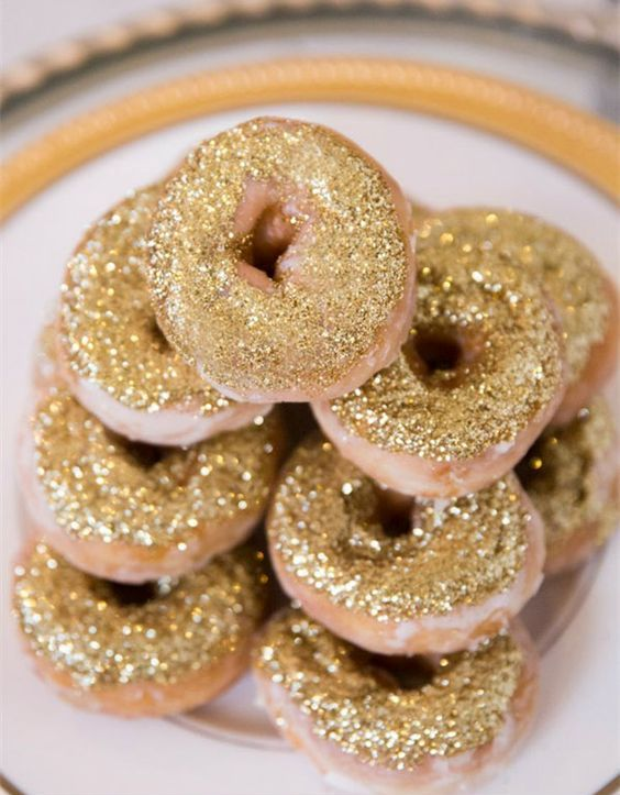donuts sprkinkled with edible glitter