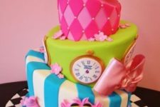 23 Alice In Wonderland multi-tiered cake