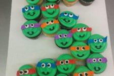 23 ninja turtle cupcakes