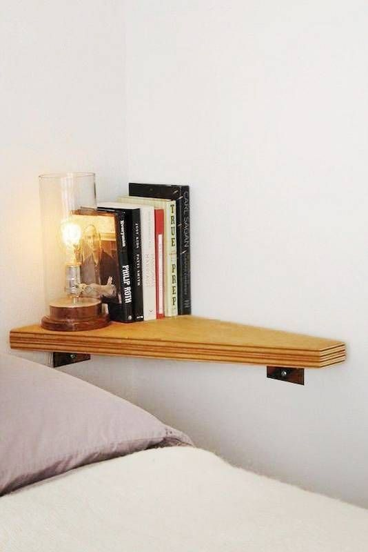 tiny wall-mounted nightstand