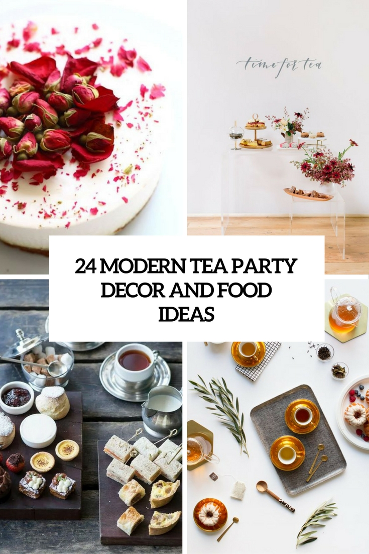 24 modern tea party decor and food ideas - shelterness
