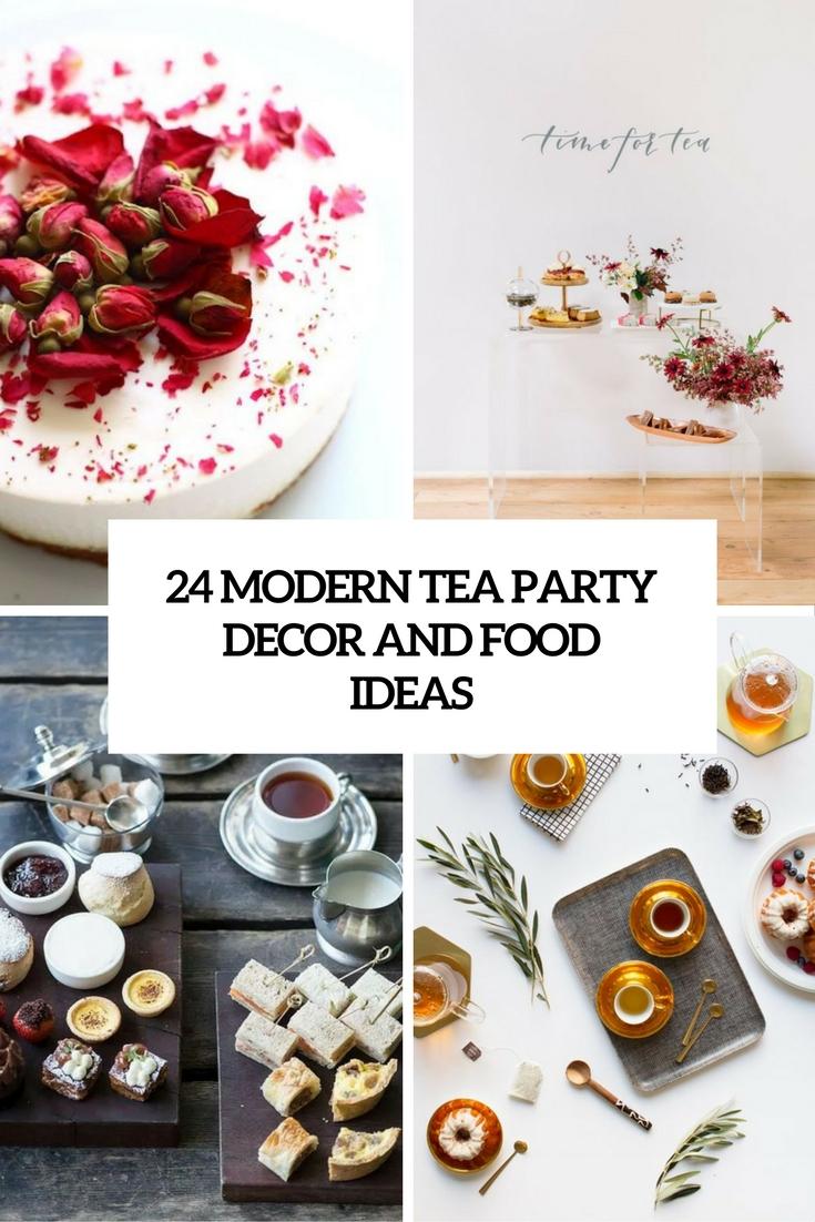 24 Modern Tea Party Decor And Food Ideas
