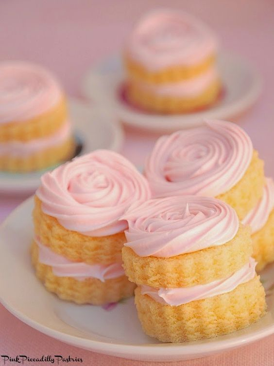 pink picadilly pastries for tea parties
