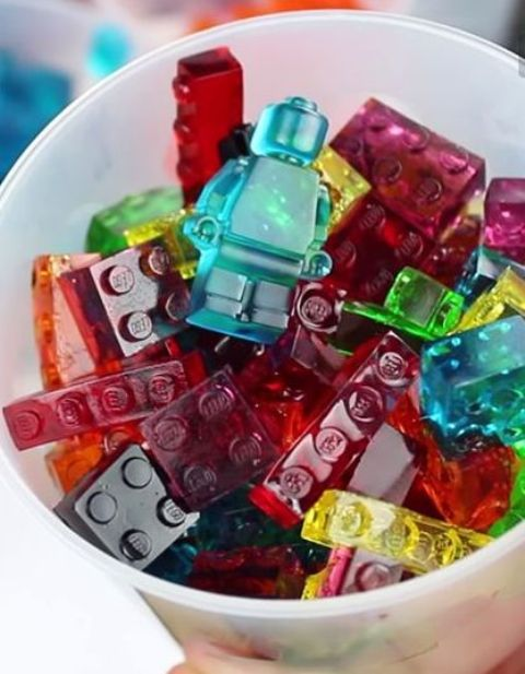 bright DIY Lego gummies