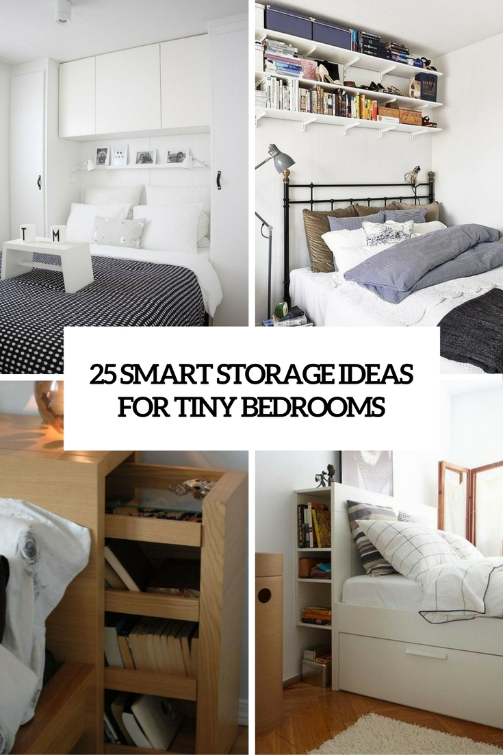 Nice Smart Storage Ideas For Tiny Bedrooms Cover