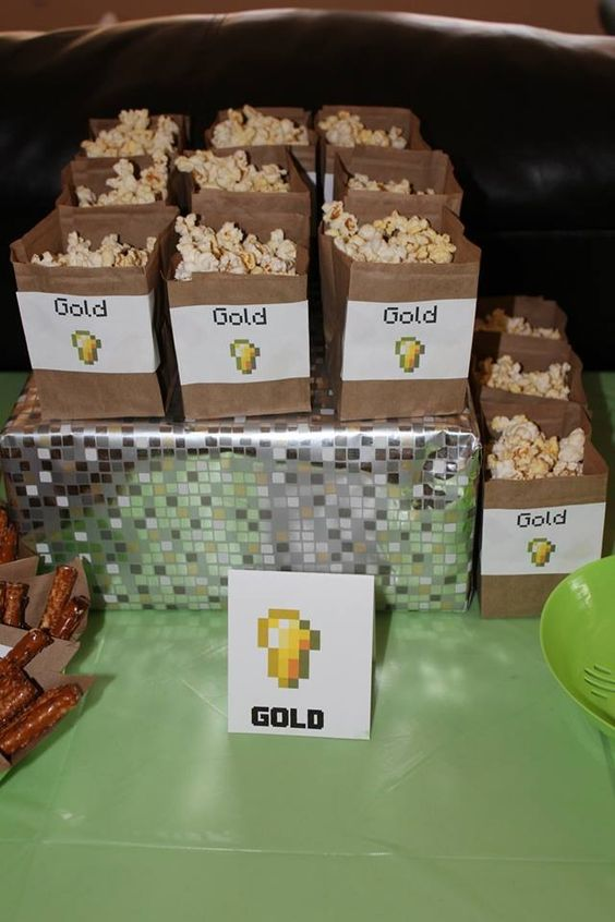 popcorn for Minecraft gold